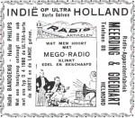 Advertentie: Indië (op ultra korte golven) Holland : uit de Zuid-Willemsvaart 1928