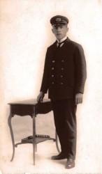 Cor Thijssens als 1e marconist op het s.s. Algenib (18 juni 1922)