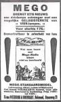 advertentie: Mego brengt iets nieuws : uit de Zuid- Willemsvaart 18-10-1927