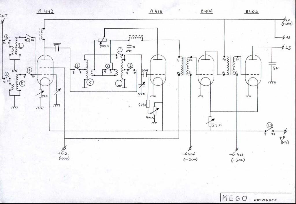 Schema MEGO MG4  1926.