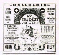 Een advertentie van Ruder uit Radio Nieuws oktober 1925.