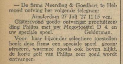 29 Juli 1927